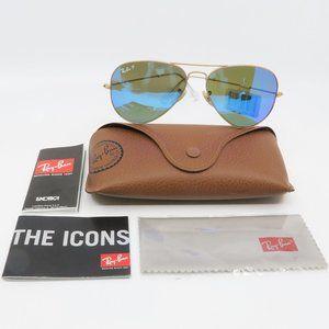 Ray-Ban RB 3025 112 Gold/ Blue Aviator Sunglasses